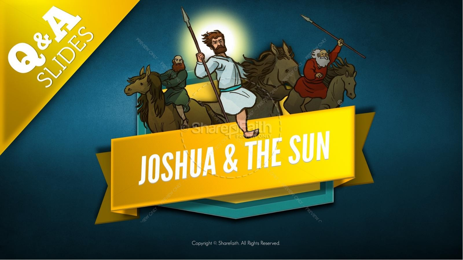 Joshua 10 Sun Stand Still Kids Bible Story | slide 7