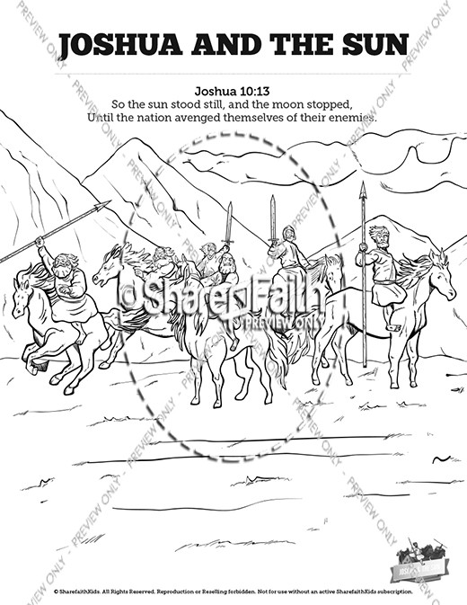 joshua and gibeonites coloring pages - photo#23