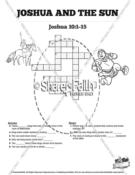 joshua and gibeonites coloring pages - photo#20