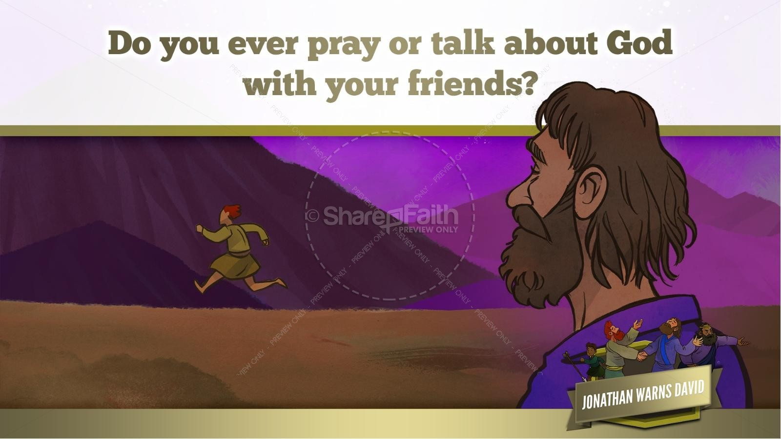 1 Samuel 20 David and Jonathan Kids Bible Story | slide 42