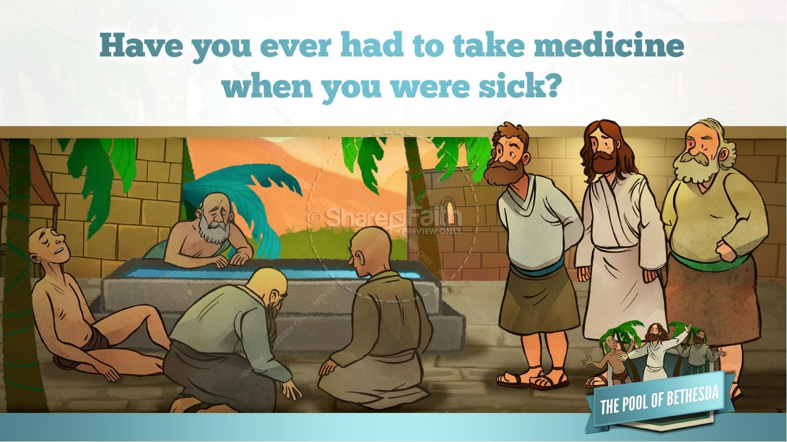John 5 Pool of Bethesda Kids Bible Stories