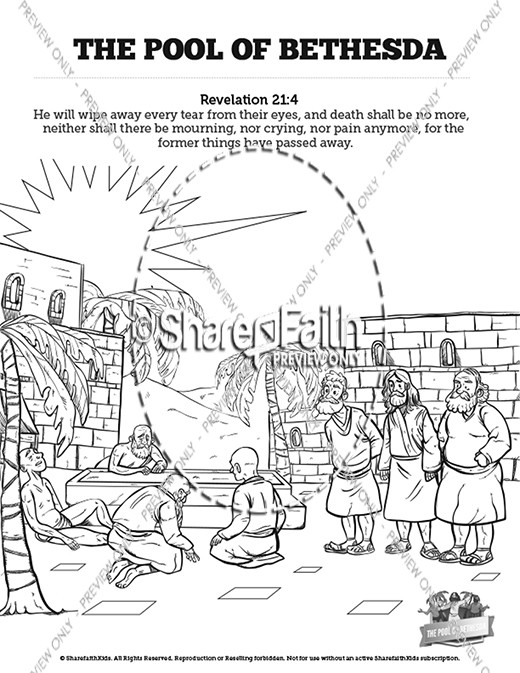 John 5 pool of bethesda bible video for kids bible video for Healing at the pool of bethesda coloring page