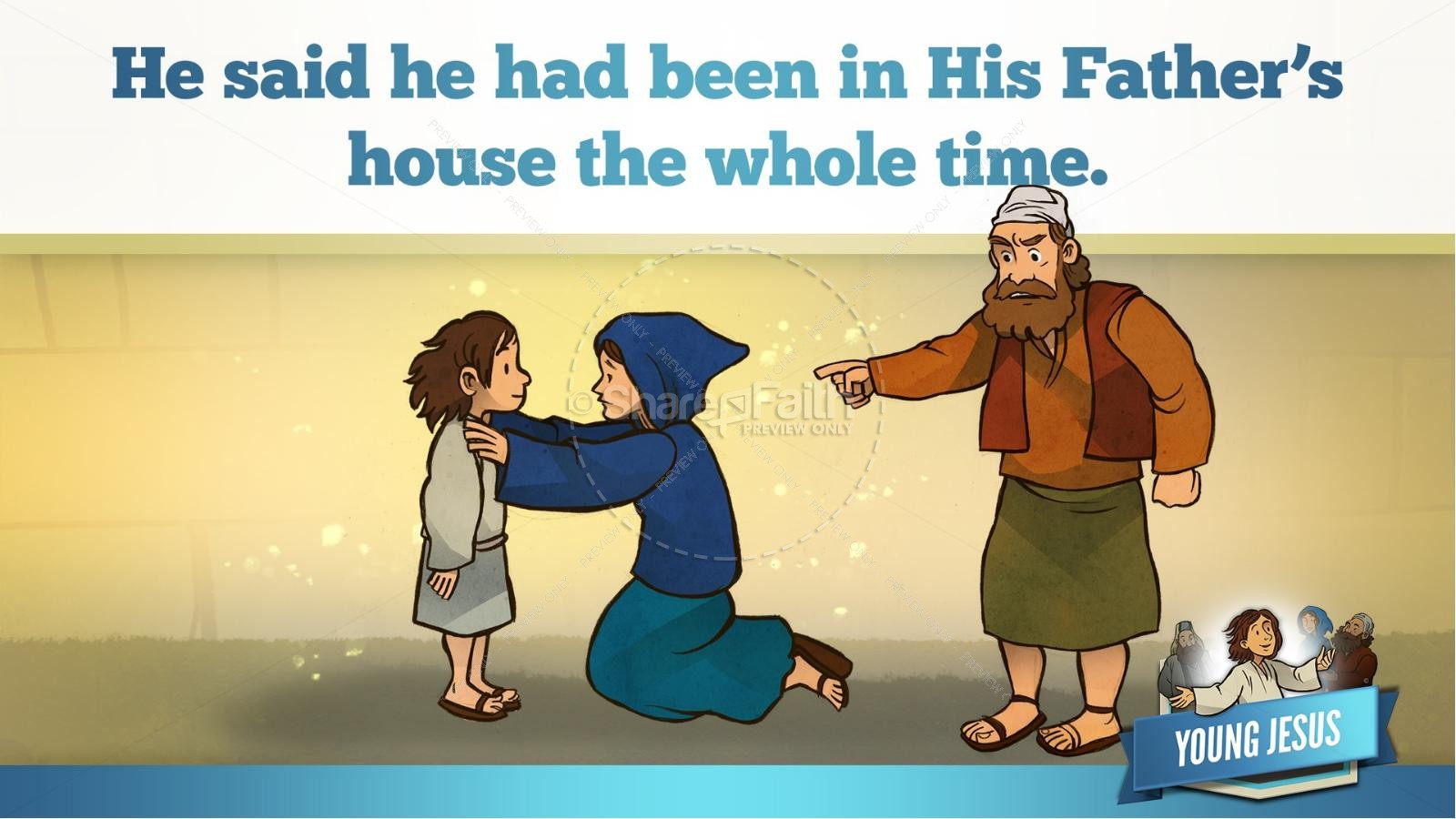 Jesus As A Child Kids Bible Story