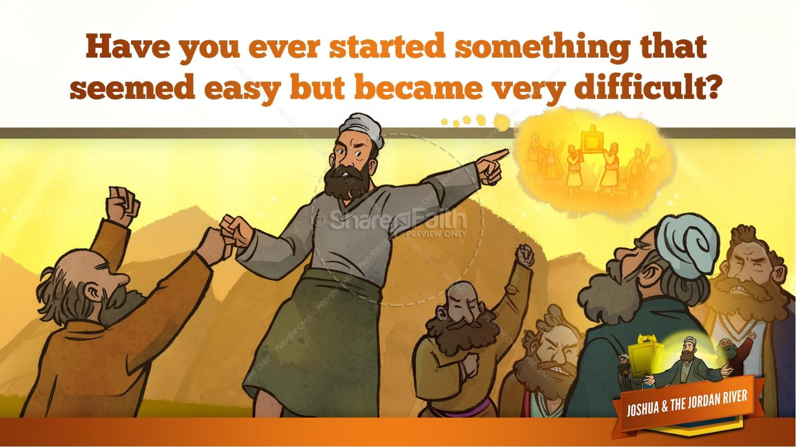 Joshua 3 Crossing the Jordan River Kids Bible Story | slide 17
