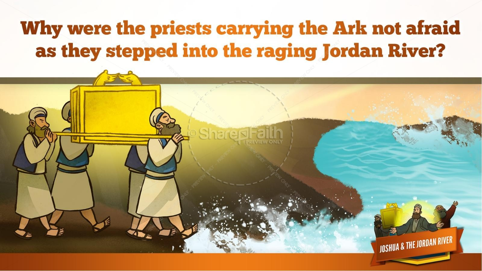 Joshua 3 Crossing the Jordan River Kids Bible Story