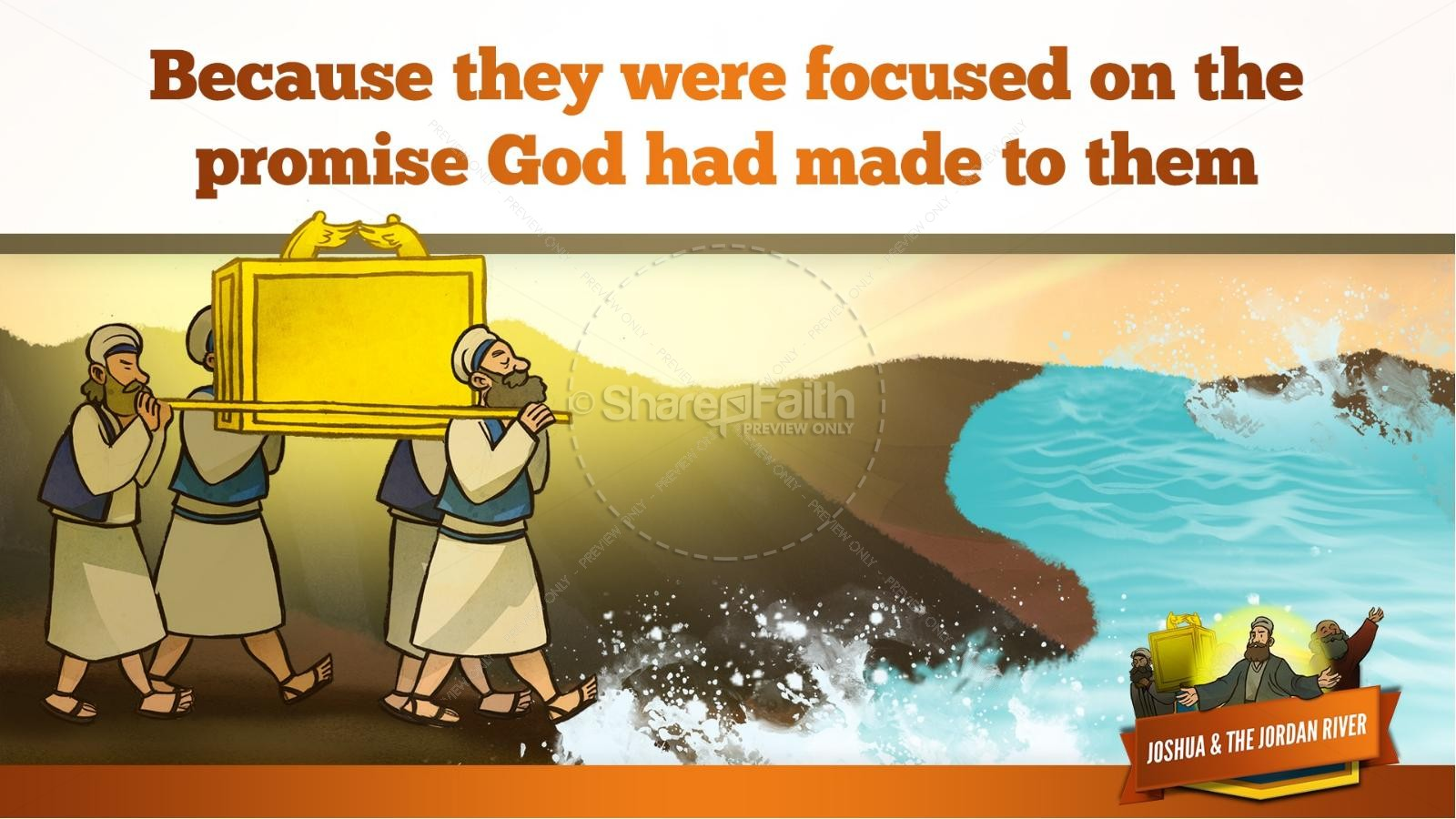 Joshua 3 Crossing the Jordan River Kids Bible Story | slide 24