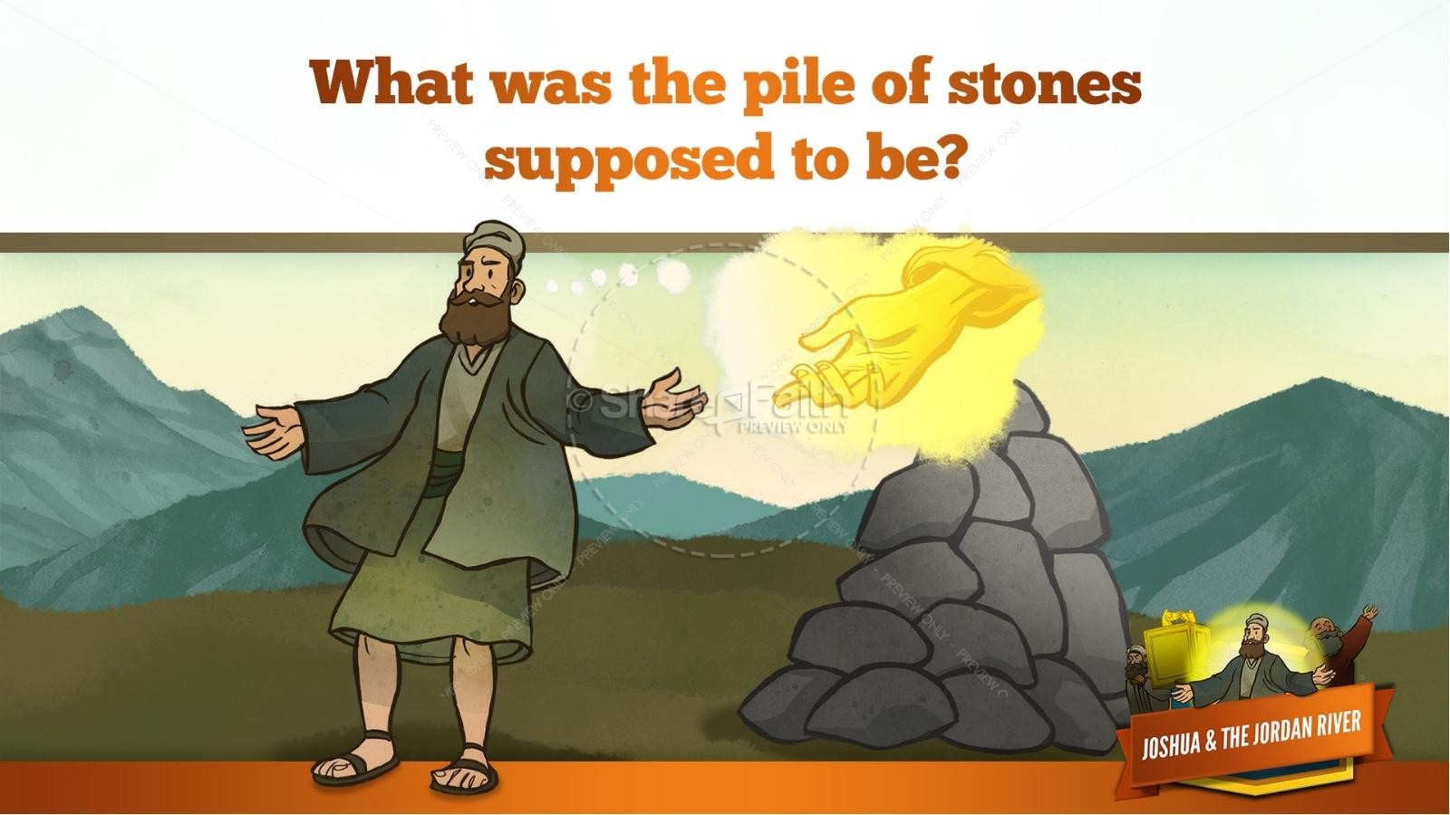 Joshua 3 Crossing the Jordan River Kids Bible Story | slide 35
