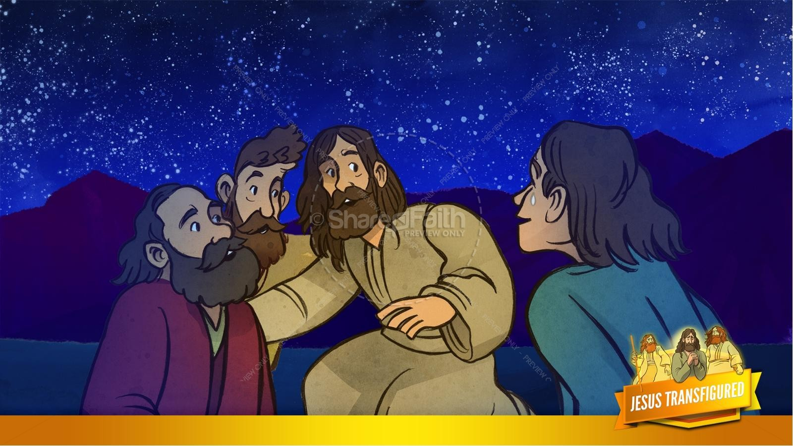 Matthew 17 The Transfiguration Kids Bible Story | slide 29