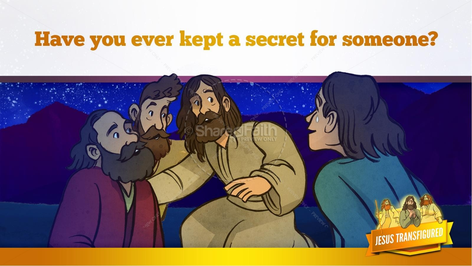 Matthew 17 The Transfiguration Kids Bible Story | slide 32