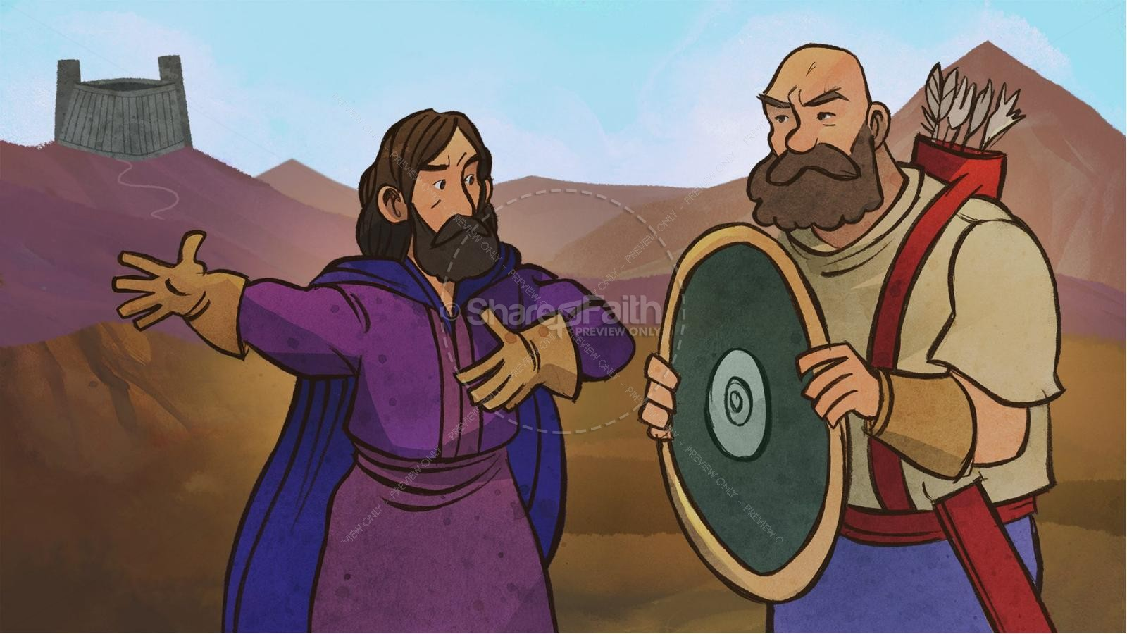 Jonathan And His Armor Bearer Kids Bible Stories