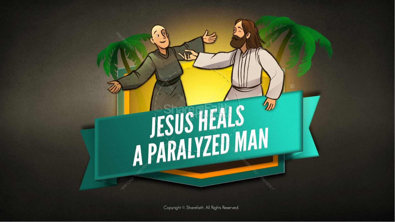 Luke 5 Jesus Heals The Paralytic Kids Bible Stories | slide 1