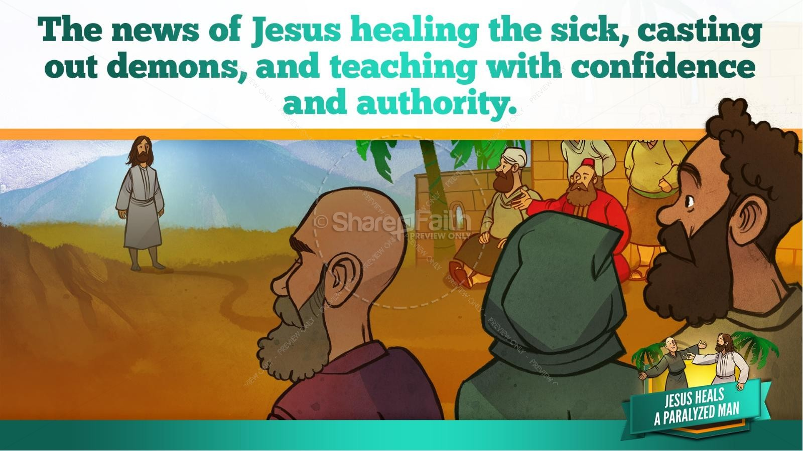 Luke 5 Jesus Heals The Paralytic Kids Bible Stories | slide 12