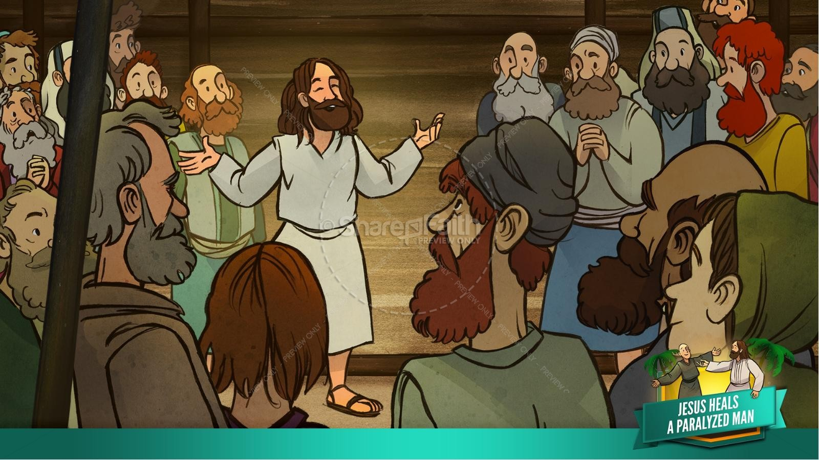 Luke 5 Jesus Heals The Paralytic Kids Bible Stories | slide 14