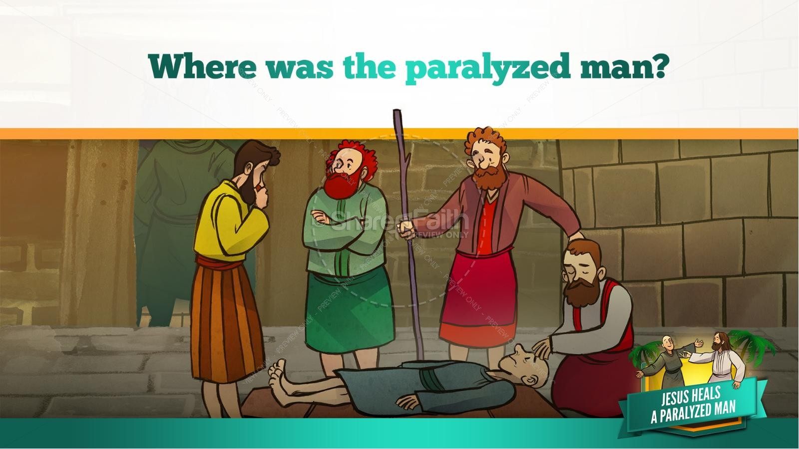 Luke 5 Jesus Heals The Paralytic Kids Bible Stories
