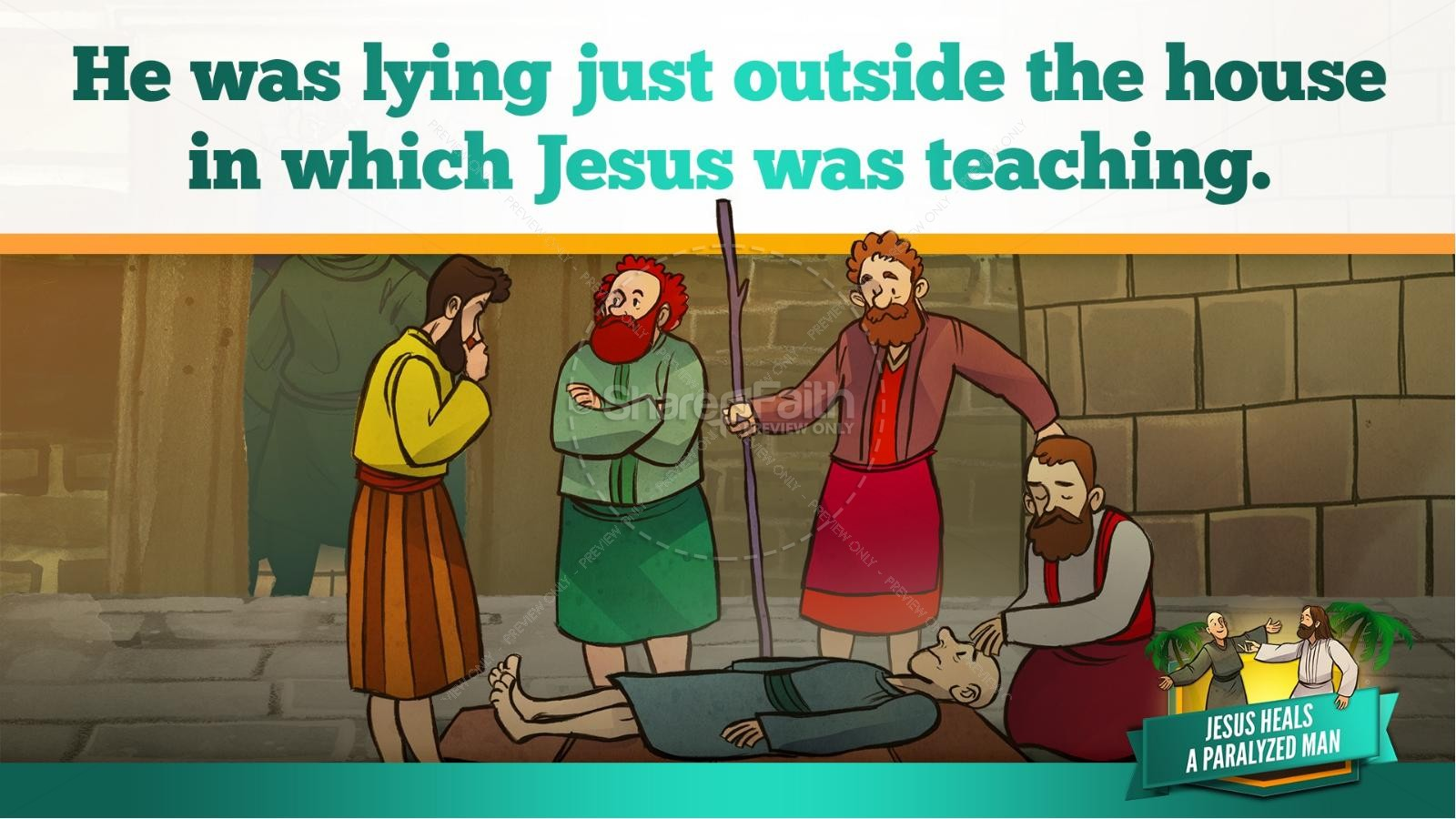 Luke 5 Jesus Heals The Paralytic Kids Bible Stories | slide 20