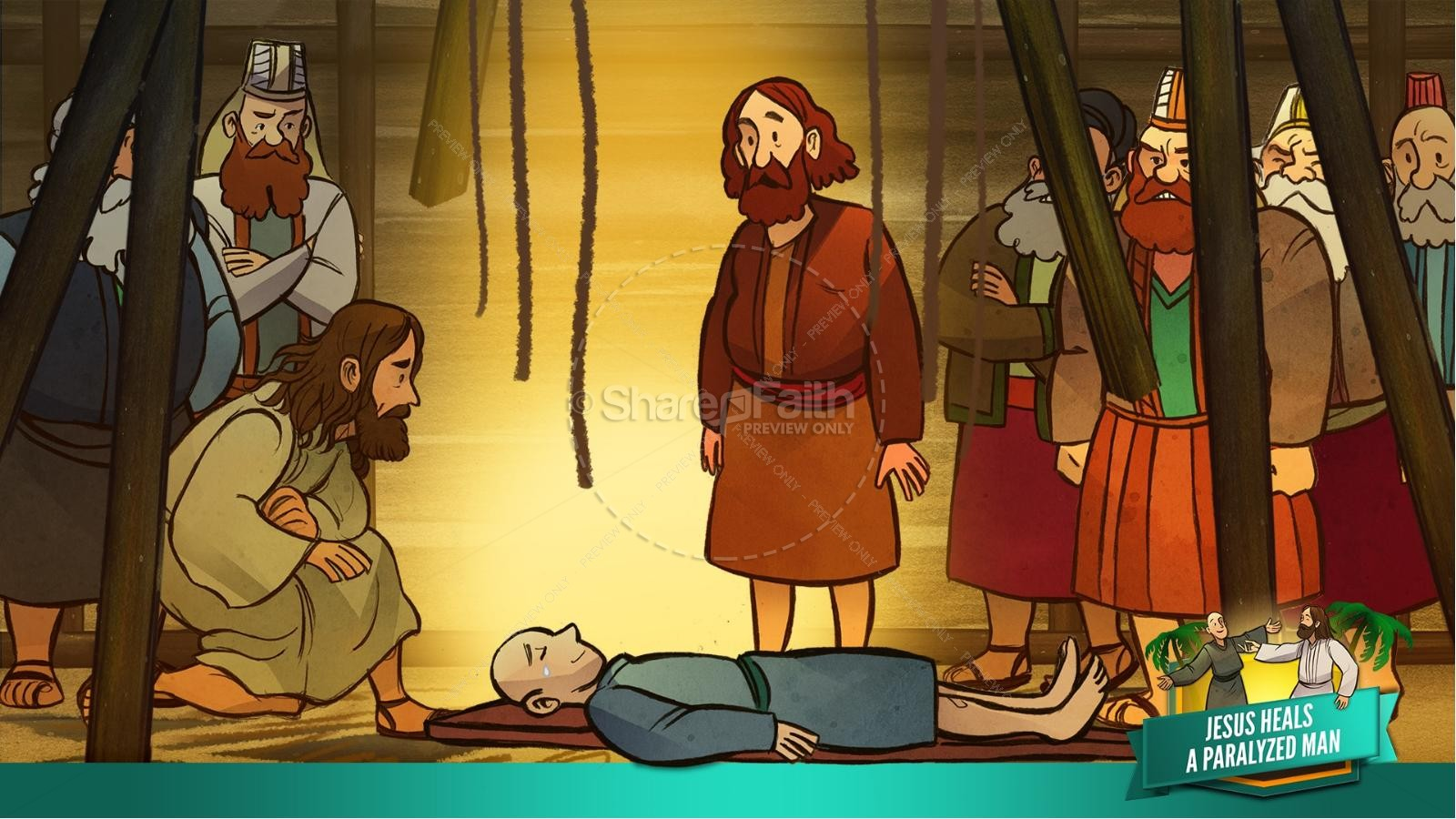 Luke 5 Jesus Heals The Paralytic Kids Bible Stories | slide 26