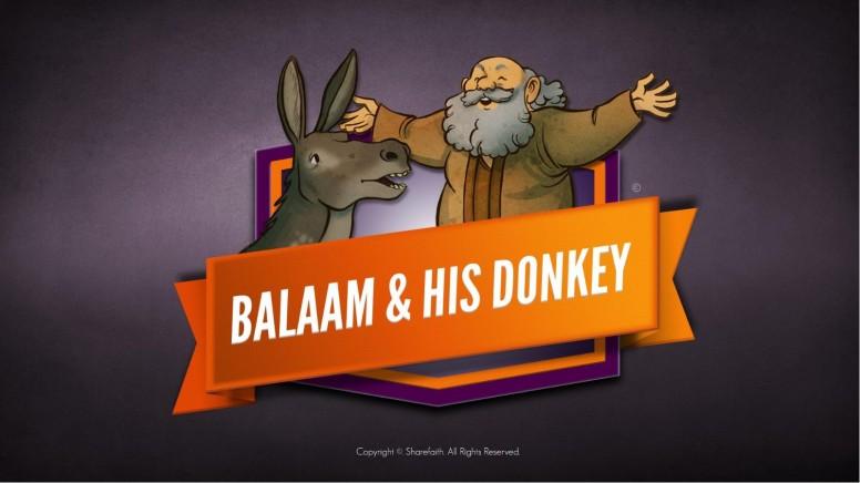 Numbers 22 Balaam's Donkey Kids Bible Stories
