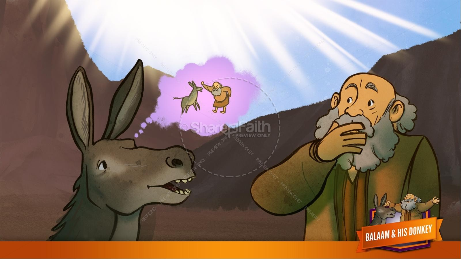 Numbers 22 Balaam's Donkey Kids Bible Stories