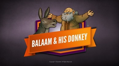 Numbers 22 Balaam's Donkey Bible Video For Kids