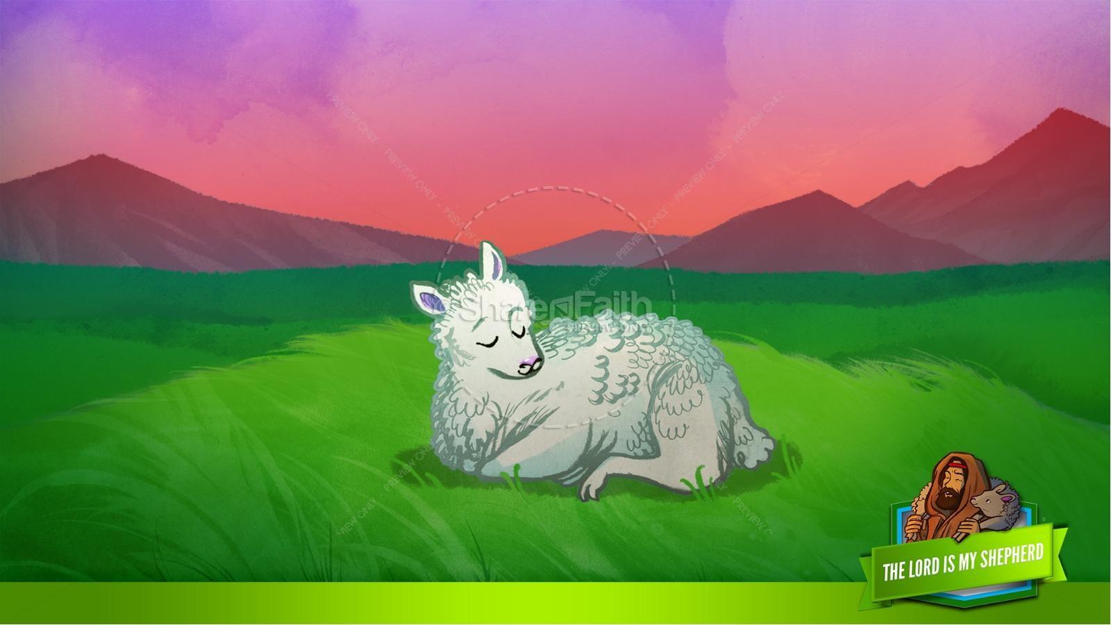 Psalm 23 The Lord Is My Shepherd Kids Bible Story | slide 14