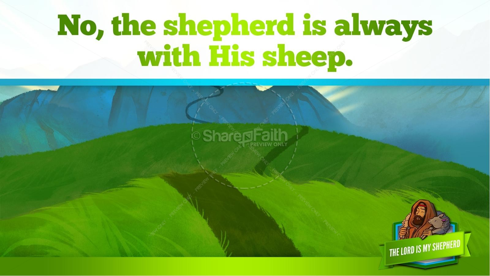 Psalm 23 The Lord Is My Shepherd Kids Bible Story | slide 32