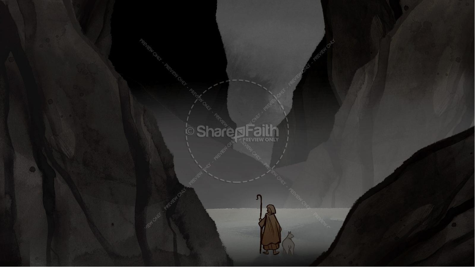 Psalm 23 The Lord Is My Shepherd Kids Bible Story | slide 4