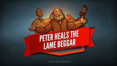 Acts 3 Peter Heals the Lame Man Bible Video For Kids