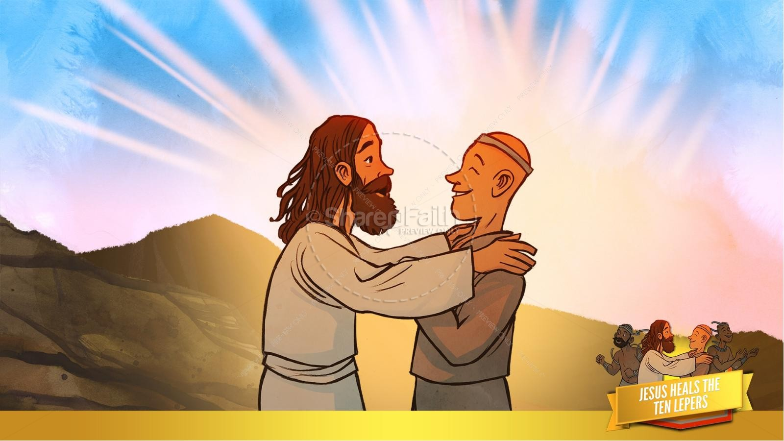Luke 17 Ten lepers Kids Bible Story