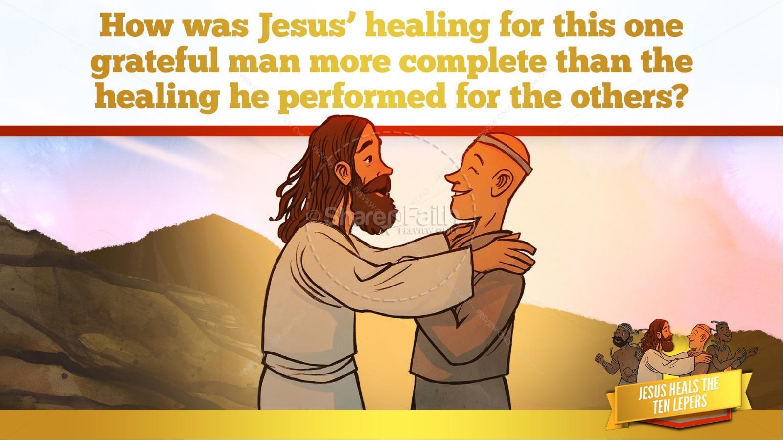Luke 17 Ten lepers Kids Bible Story