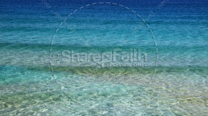 Clear Ocean Waters Christian Stock Photo