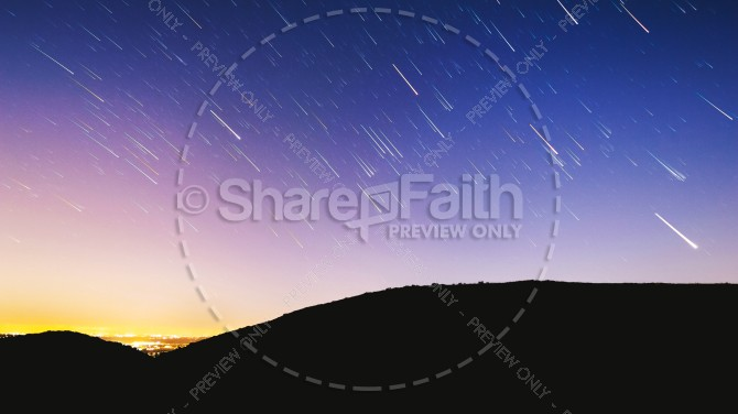 Shooting Stars in the Sky Christian Stock Photo