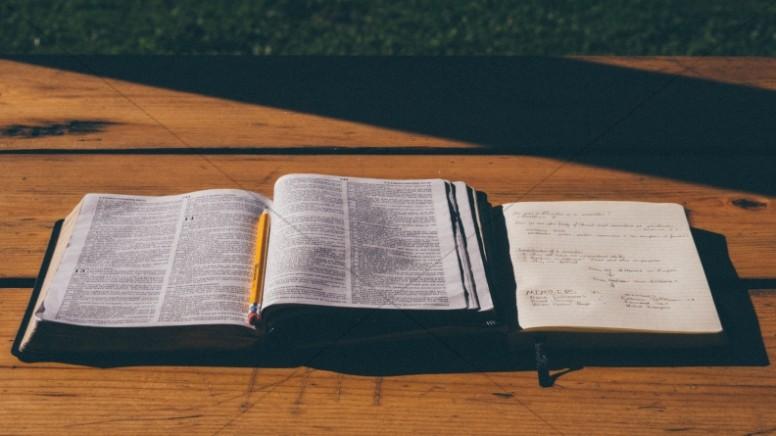 Bible Study Christian Stock Devotional Image