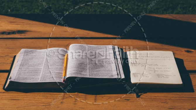 Bible Study Christian Stock Devotional Image