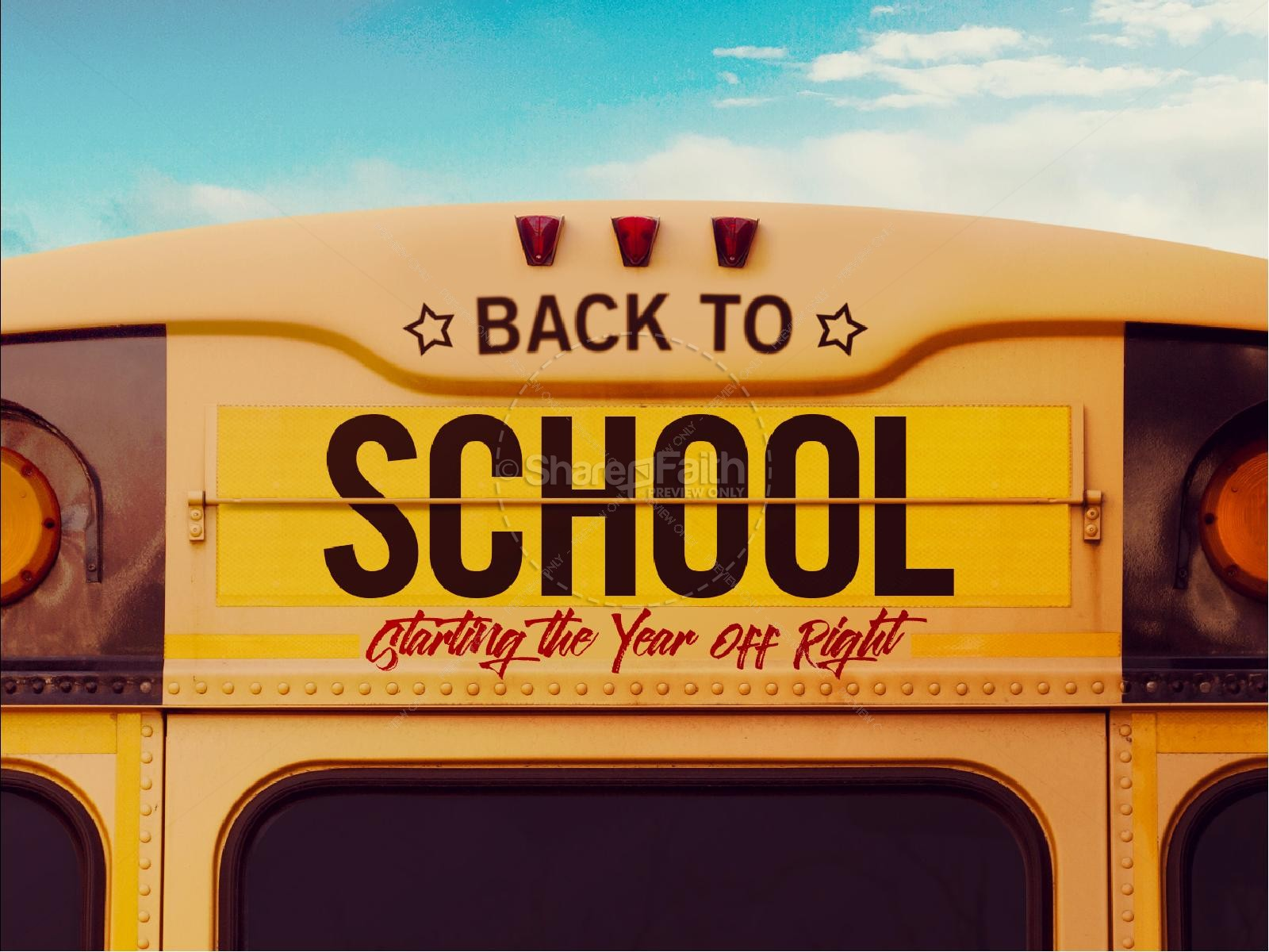 Back to School Bus Church PowerPoint