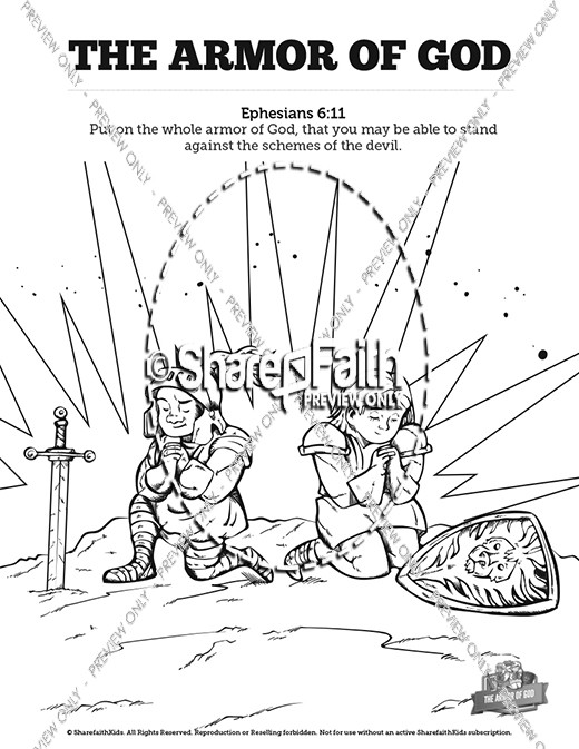 Ephesians 6 The Armor Of God Bible Mazes