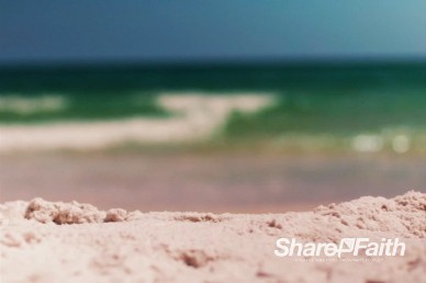 Beach Sand with Rolling Ocean Waves Church Motion Background Loop