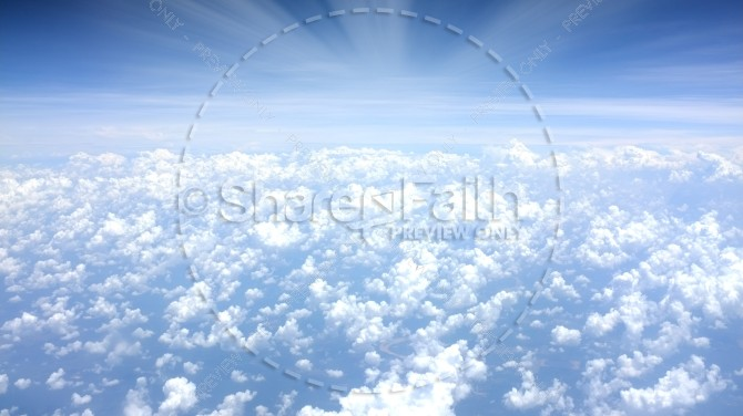 Heavenly Clouds Sunlight Rays Christian Stock Photo