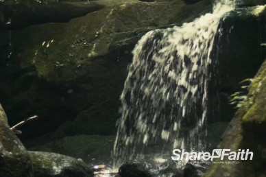 Nature Waterfall Church Worship Video Background Loop
