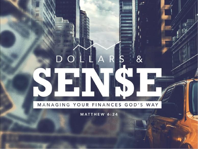 Dollars and Sense Christian Finances Church PowerPoint