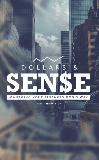 Dollars and Sense Christian Finances Church Bulletin