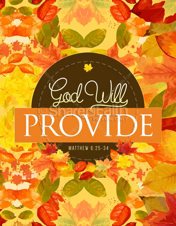 God Will Provide Christian Flyer Template
