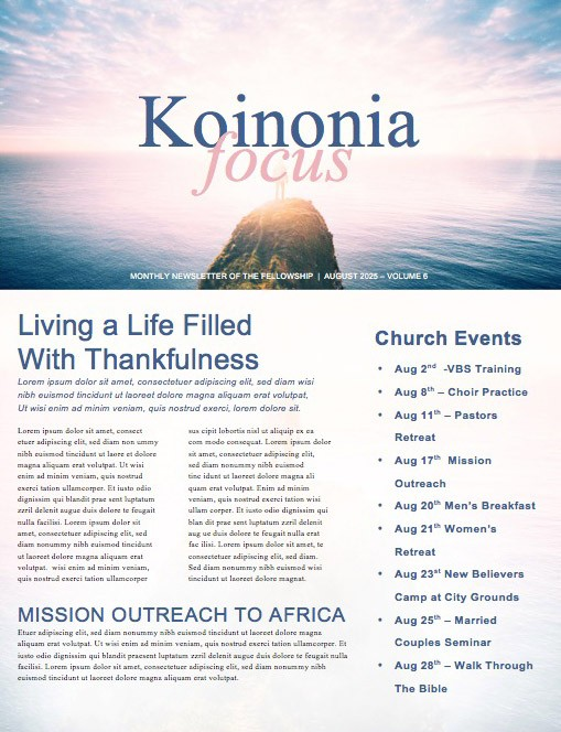 Let God Church Newsletter Template