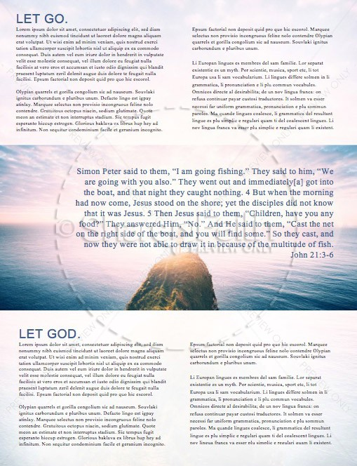 Let God Church Newsletter Template
