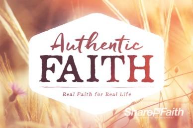 Authentic Faith Intro Video Loop