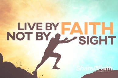Live By Faith Sermon Title Motion Loop
