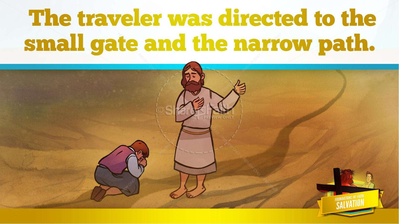 Matthew 7 Plan of Salvation Kids Bible Story | slide 28