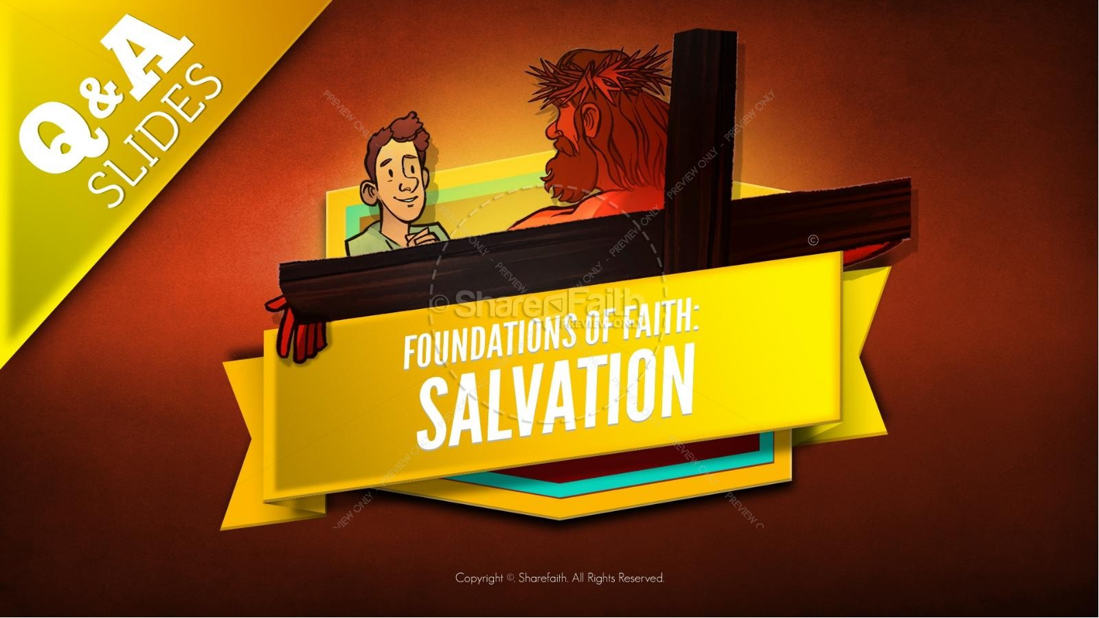 Matthew 7 Plan of Salvation Kids Bible Story | slide 9