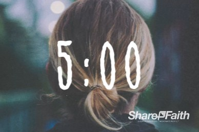 Jesus Loves Me Church Countdown Timer