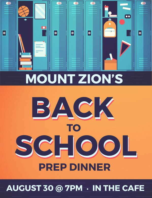 Get Ready for Back to School Church Flyer Template