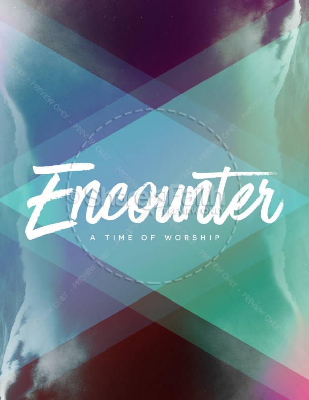 Worship Encounter Church Flyer